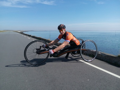 New M5 Carbon Handbike for Olympic sporter Jetze Plat