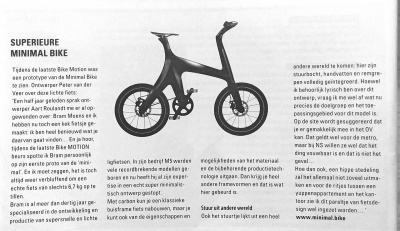 An enthusiastic article about Minimal.bike